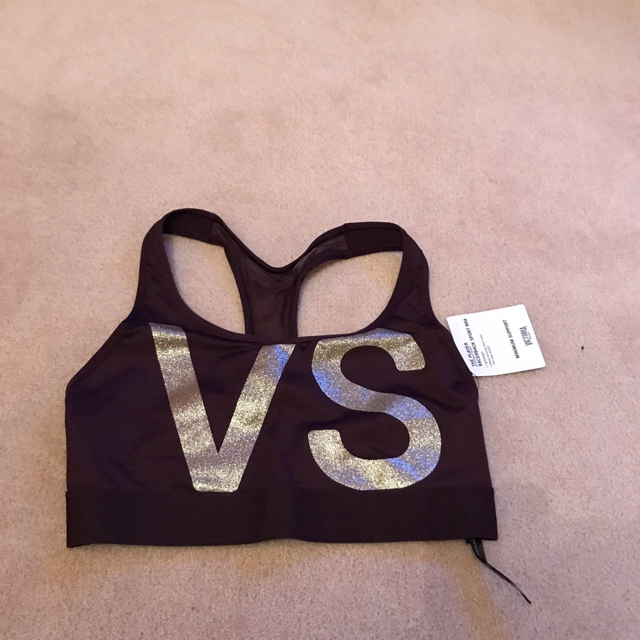 066020acf7302 Brand new with tags Victoria s Secret sports bra size dark   - Depop