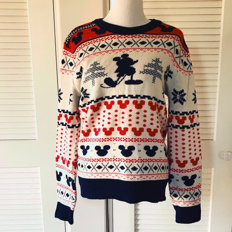 super fun mickey mouse ugly christmas sweater junk collab depop - Mickey Mouse Christmas Sweater