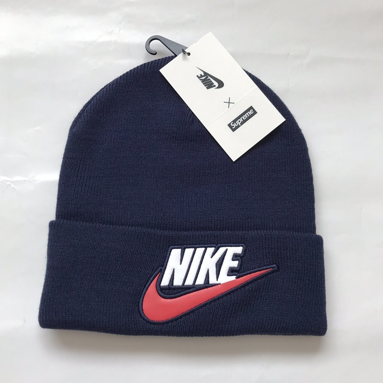 Supreme Nike navy beanie Nice soft beanie with supreme and - Depop bf738046719