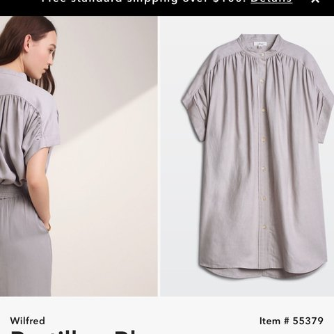 583d04e11fd3c Aritzia Wilfred bertillon blouse Super oversized Size can - Depop