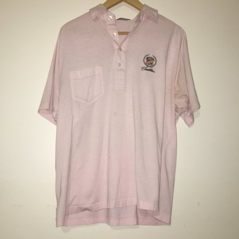a3b26b76461d1 Vintage Pink Cadillac Polo Shirt 7 10 Used Condition Looks Depop