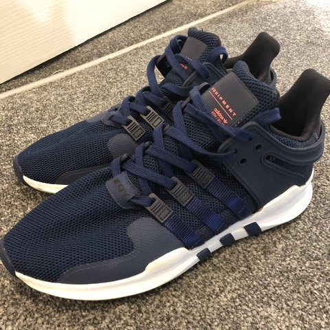 ddfe928b440a0 Men s Adidas EQT navy white trainers size Uk 10 Worn 3 4 the - Depop