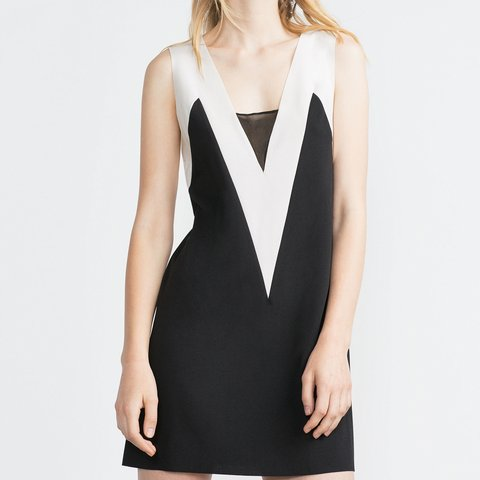 21289689 black and white dress zara – Little Black Dress | Black Lace ...