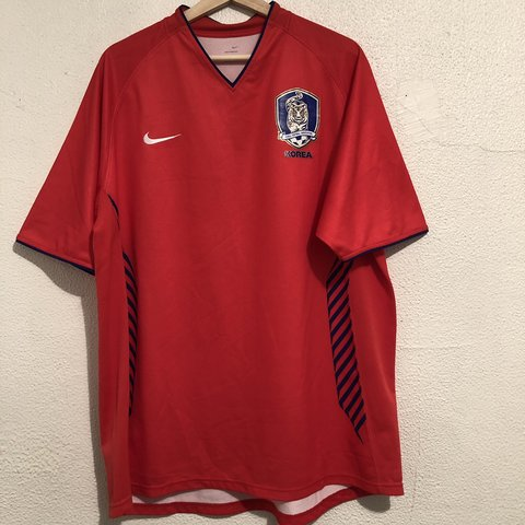 489596ba7 @picounionbishop. 17 days ago. Los Angeles, United States. Red Nike brand  Korean national team soccer jersey. Size XL ...