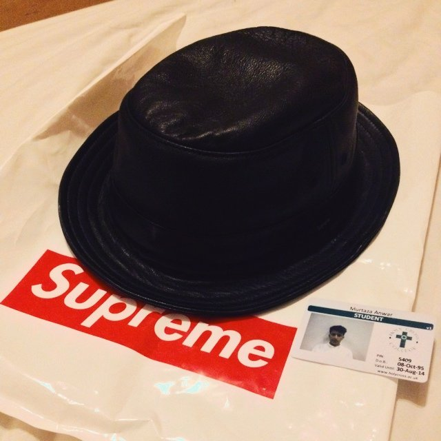 162d57e0038828 @murty. 5 years ago. Manchester, UK. Supreme leather bucket hat ...