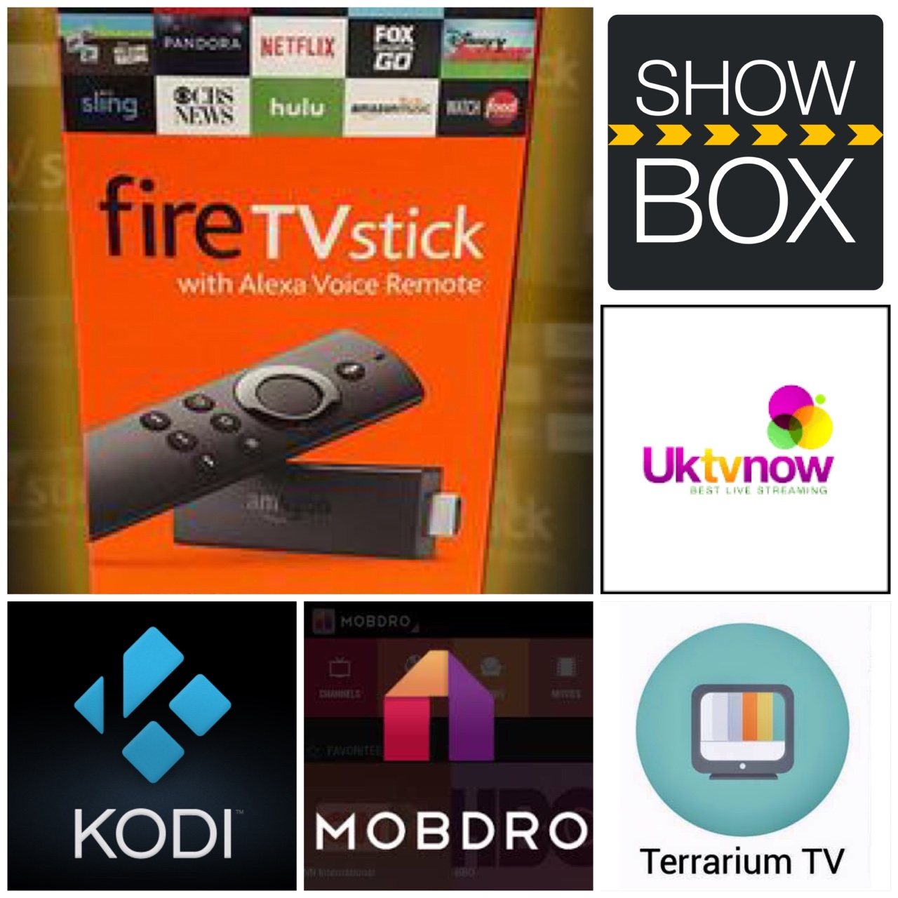 Firesticks Loaded with KODI, MOBDRO, SHOW BOX,    - Depop