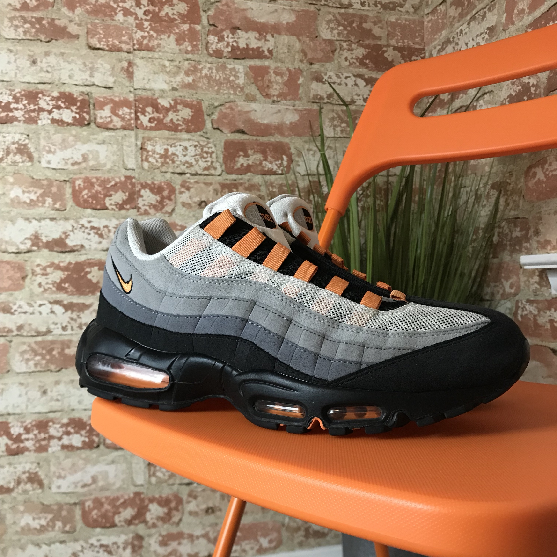 innovative design new photos classic styles 🍑Nike Air max 95 in white and bright... - Depop