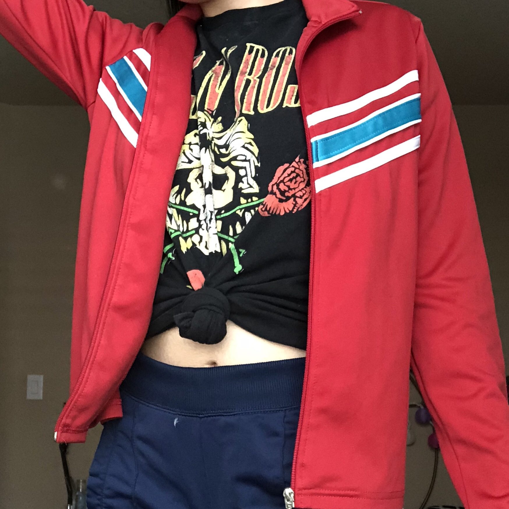 Bright Red Track Jacket Max From Stranger Things Depop