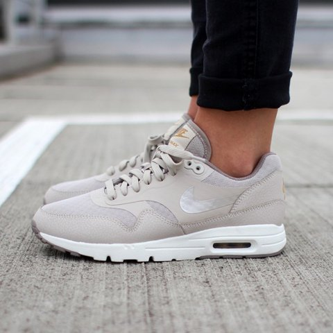 new product f482f d65e1  stephanierodriguez. 2 years ago. London, UK. Nike Women s Air Max 1 Ultra  Essentials In Stone Metallic Gold.