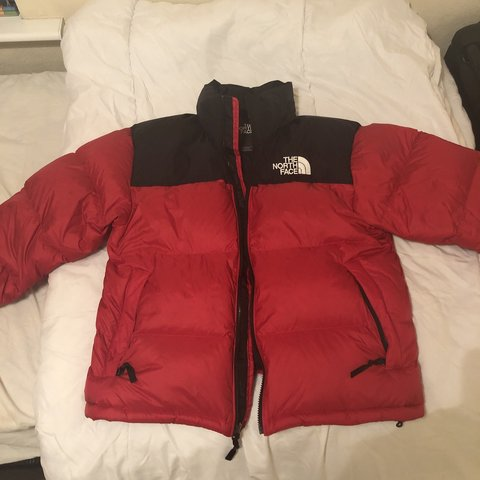 366ae909c5 The North Face Nuptse 1996 jacket in black red size medium a - Depop