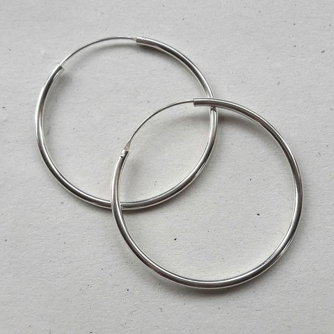 fbd5d1bf4 @gravitynewcastle. 13 days ago. Seaford, GB. New real sterling 925 silver  BIG OVERSIZE hoop earrings.