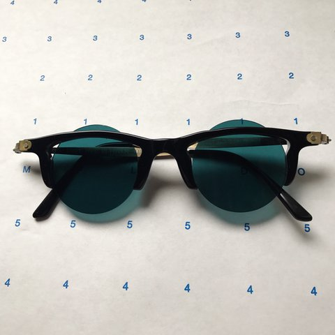 bb4a2623f8 Rare 1960s French Lunettes IDC sunglasses with blue peekaboo - Depop