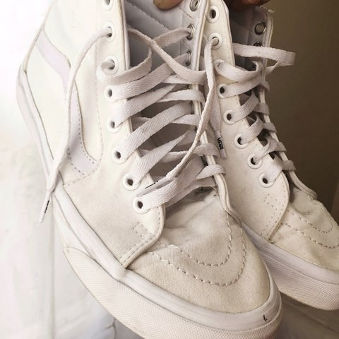 0d198802a9 Old Skool Hightop Vans. Used. Washed