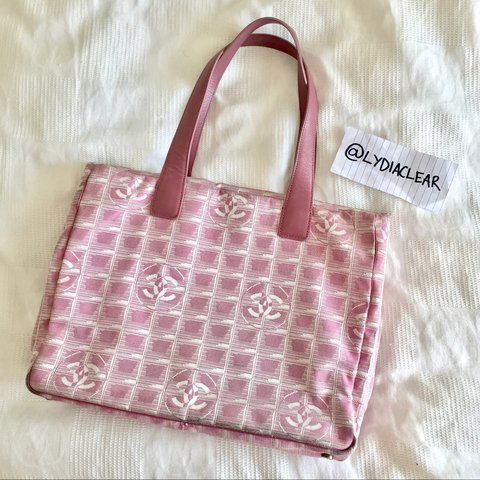 98f2d77ca8be Genuine pink chanel tote bag with leather handles • The bag - Depop