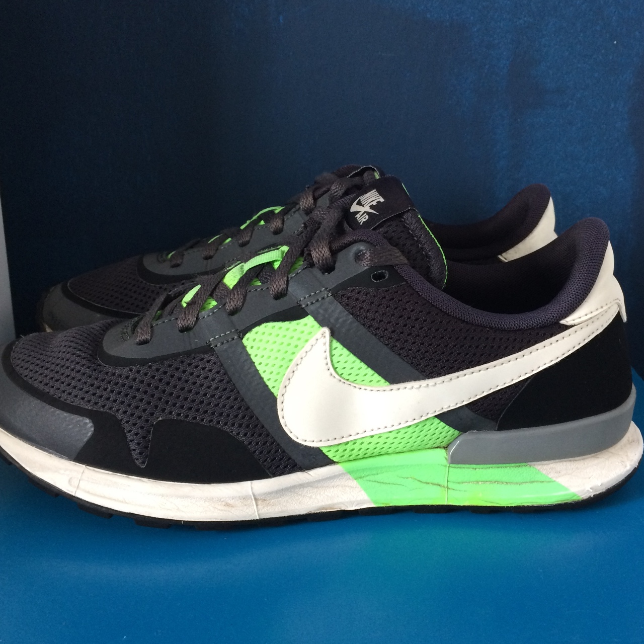 innovative design d677f 50f51 Nike Air Pegasus 83 80 black flash lime Worn - Depop