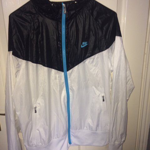 4cdde853f @yury_c. 11 months ago. Naas, Ireland. Vintage style black and white Nike  windbreaker jacket ...