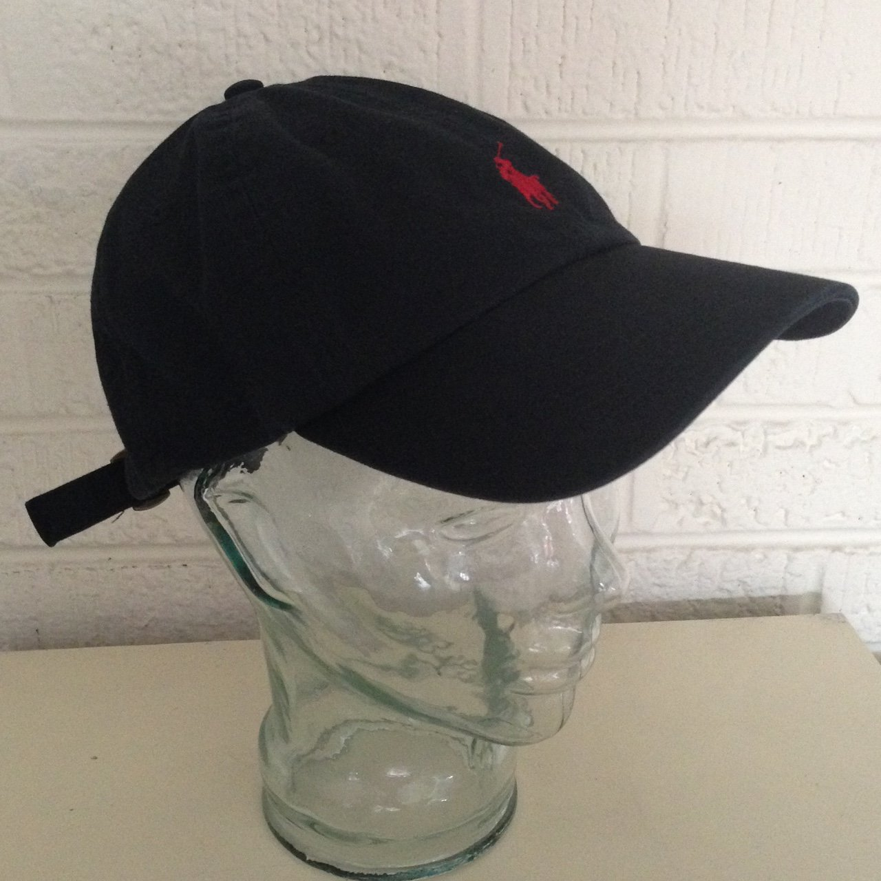 60bb65589d7 Polo hat black with red one size fits all. - Depop