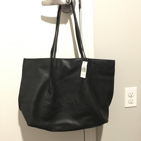 NWT Saks fifth avenue tote in black. Brand new.  tote  bags - Depop b23015db23d7f