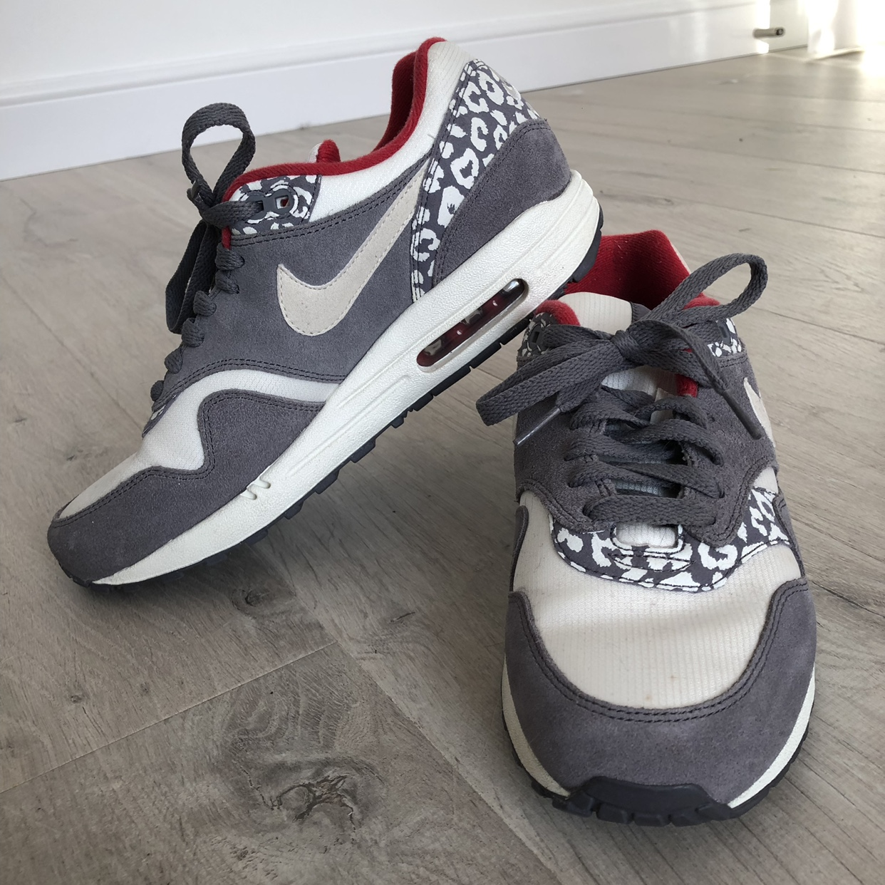 Nike Air Max 1 'Leopard' trainers, size UK 6. Have Depop