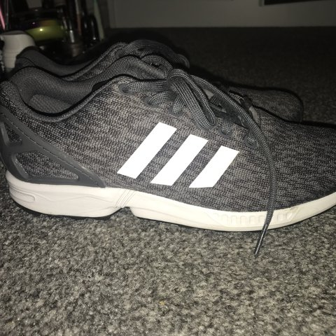 557379db1d948 Adidas ZX flux torsion grey running trainers. Only worn a - Depop