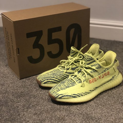 7c9b8af98ef4f Yeezy Boost 350 V2 Semi Frozen Yellow - UK 11 - Brand and - Depop