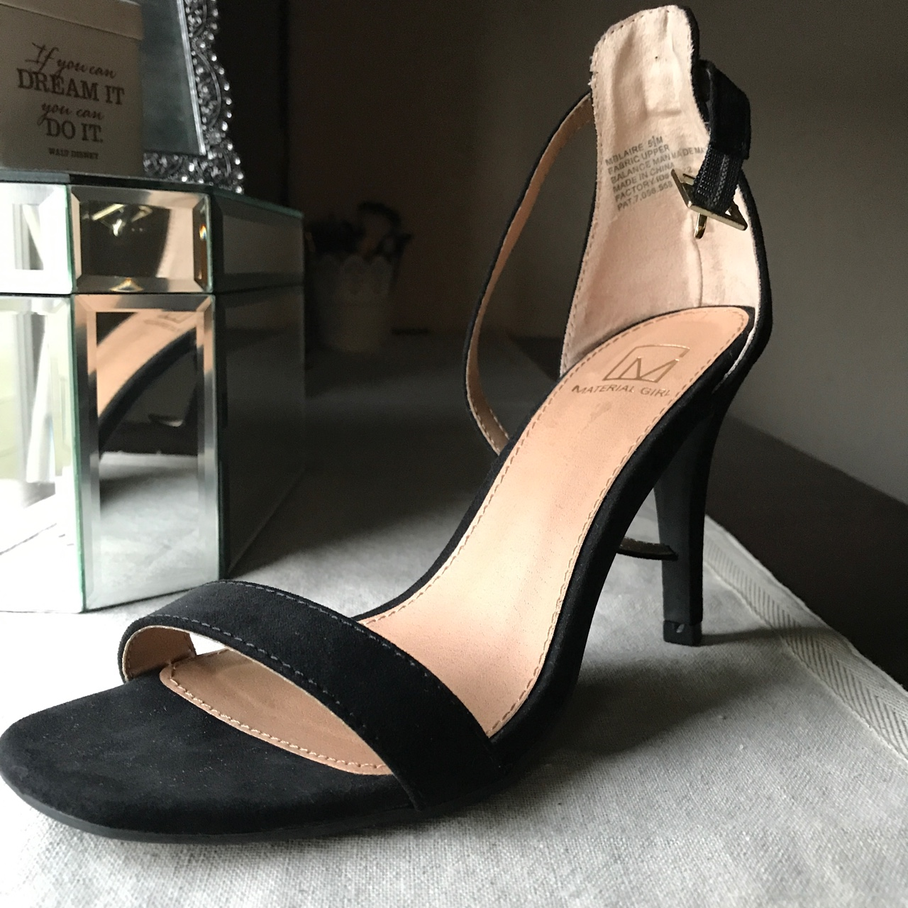 Material Girl black heels👡 Only used
