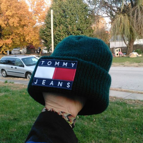 e4ba0a13f @jakes_leftovers. 2 years ago. Saint Charles, St. Charles County, United  States. 🚨Price lowered🚨 Tommy Hilfiger big flag dark green beanie ...