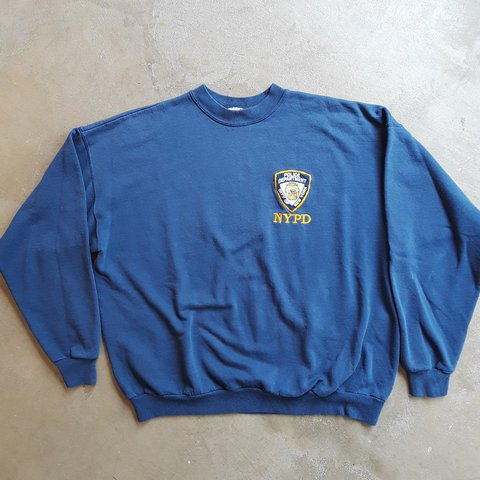 4e2bf67d @jakes_leftovers. 11 months ago. Maplewood, St. Louis County, United  States. Vintage 90's NYPD Crewneck Sweatshirt. New York Police Department.