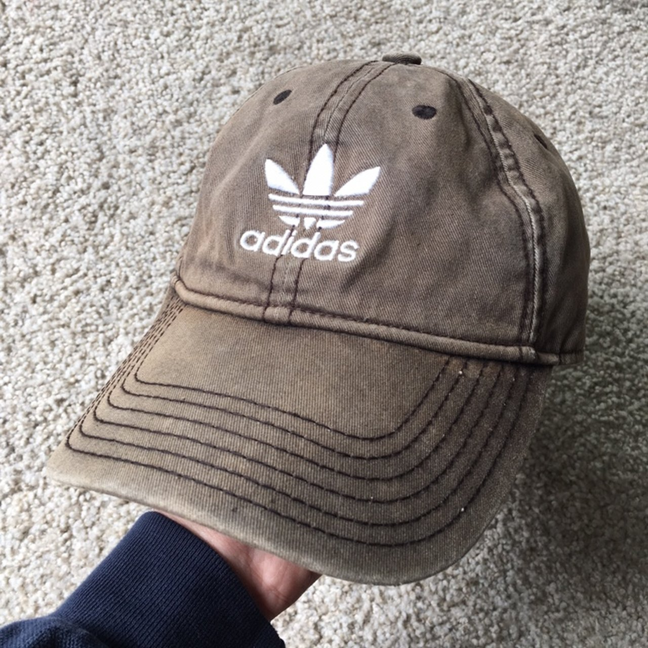 Adidas Embroidered Trefoil Brown Hat Condition  8 10 534451268851