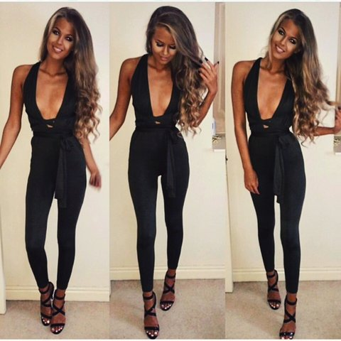 2158c4cc8d5c Black multiway jumpsuit can be worn so many different ways . - Depop