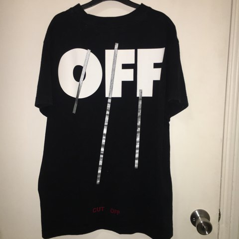 3b400b7c03cf Off white  Cut Off  tee Size  xs but fits like a small Open - Depop