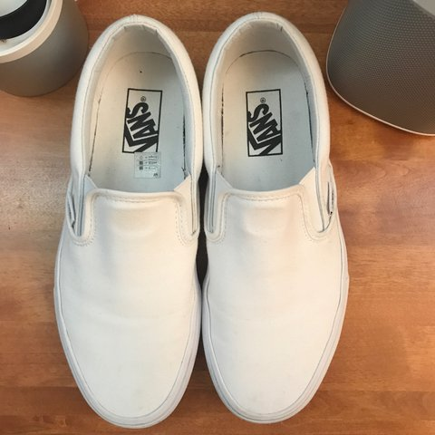 da816c1145 Very lightly used all white Vans slip on shoes. No stains or - Depop