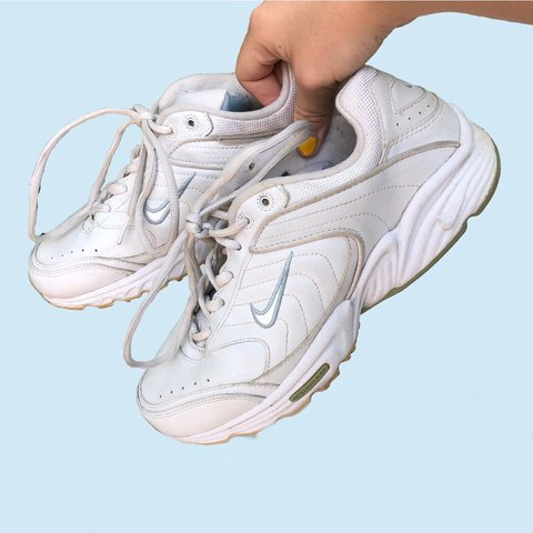 1735f3f5776c0 Ok !!! The perfect chunky white dad shoe! The best with a on - Depop