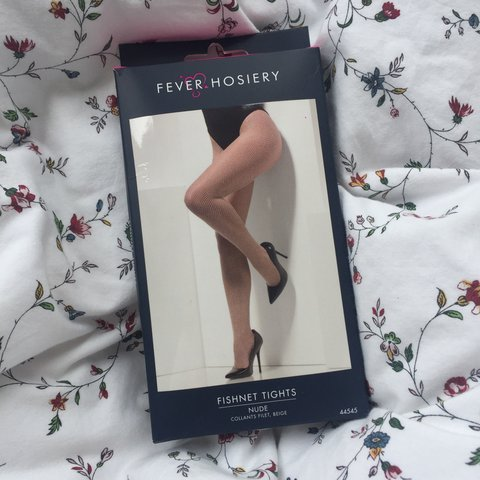 34073eb1938 Super sassy nude fishnet tights • Small holes • One size ( 6 - Depop