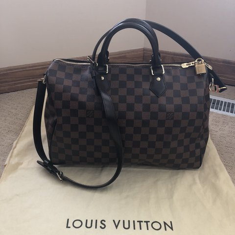 9f6bb3fe8 @lilchinababy. 10 months ago. Calgary, Canada. LOUIS VUITTON SPEEDY  BANDOULIERE 35 DAMIER EBENE ...