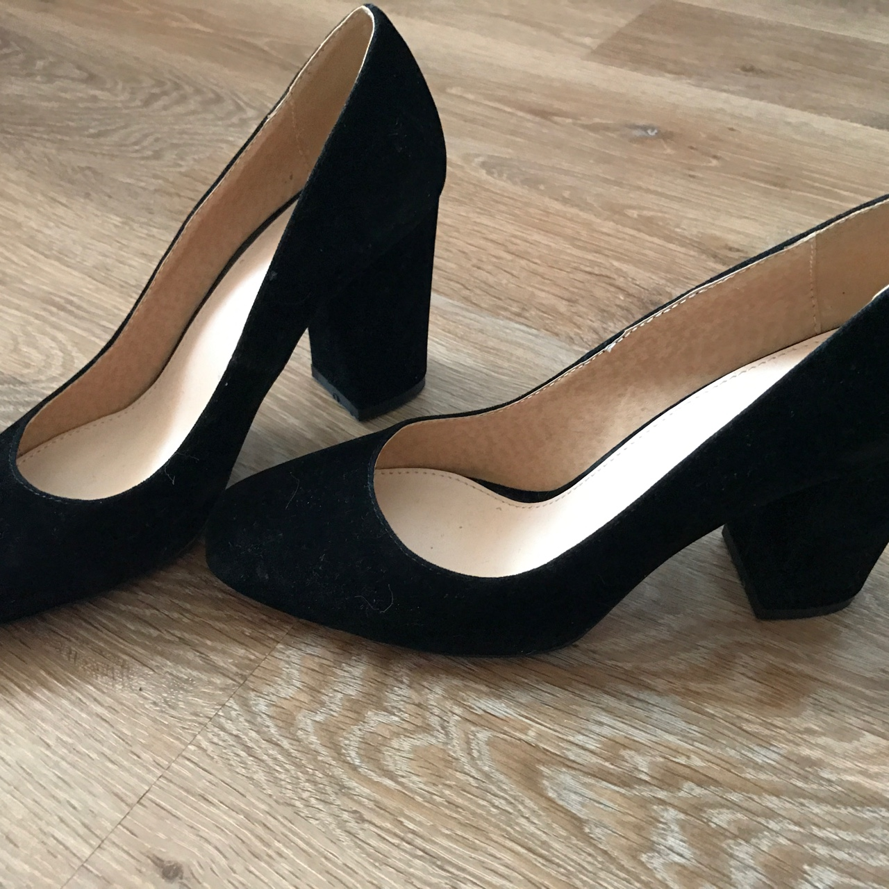 dcb12222668 Gorgeous 3 inch block heel black heels by 'RAID'... - Depop