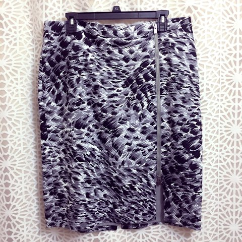 e98e652b67 @menziesgal. last year. Des Moines, United States. Talbots Abstract Animal Print  Midi Skirt