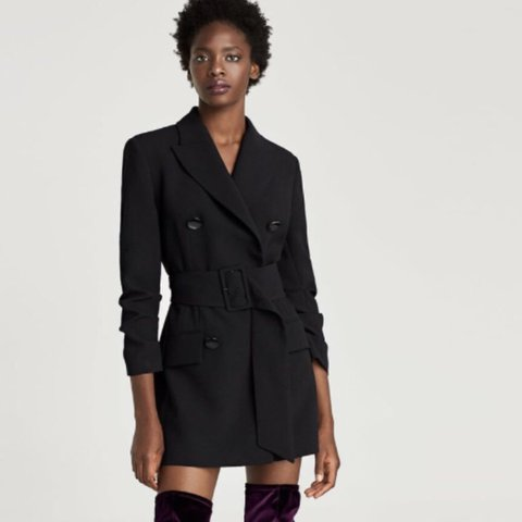 316f221ea7df @eveiel. last year. London SW3, UK. Zara double breasted belted blazer dress.  Size M Never worn with tags