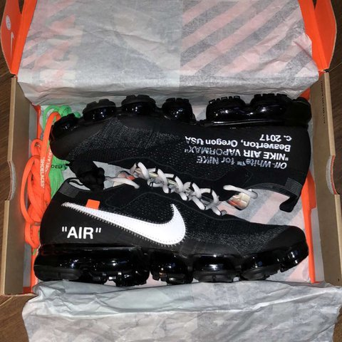 e01341481d Nike Off white vapormax size 11 worn once - Depop