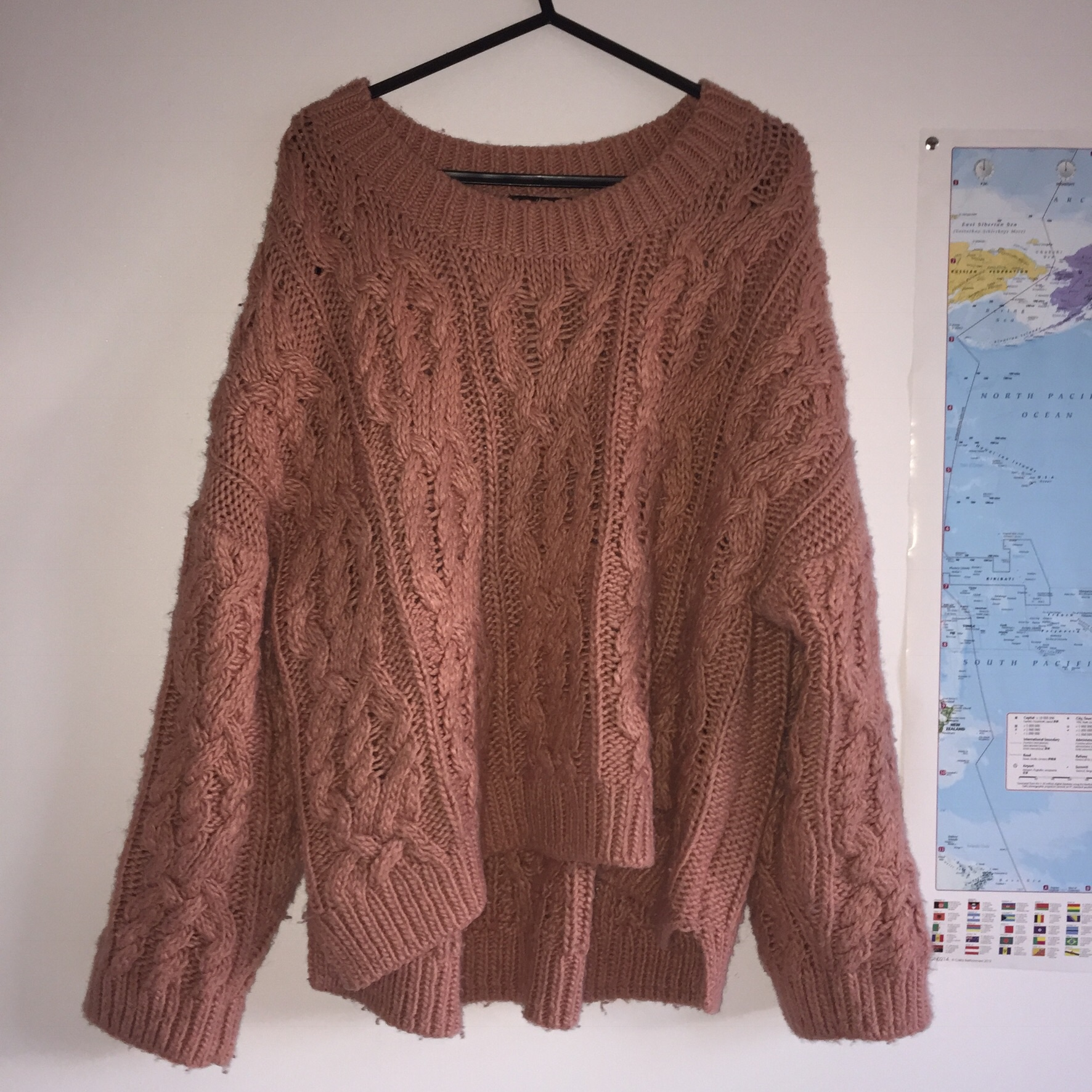 H&m chunky knit dusty pink chunky jumper, perfect Depop