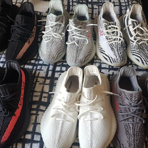 e9f2c88cc7fe1 Yeezy v2 collection for sale. Uk 9 Yeezy 350 boost red 8.5 9 - Depop