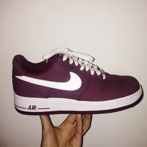 newest 51e3e 80834 @jakeambrose. 4 years ago. Audenshaw, United Kingdom. NIKE AIR FORCE 1 LOW  SIZE UK 8 CHERRYWOOD RED/WHITE.