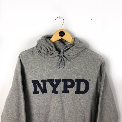53b2d7a09 @safevintage. 1 hour ago. Sheffield, United Kingdom. Vintage NYPD pullover  sweater hoodie sweatshirt jumper hoody in grey.