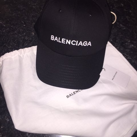 4fda2680f5d Brand new Black Balenciaga dad cap 100% authentic With box - Depop