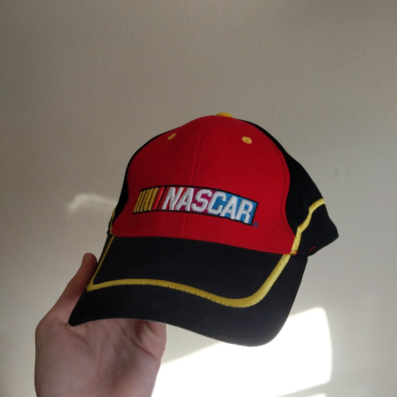 59840925cfd red and black Nascar racing.  5. NASCAR racing dad hat 🧢.  5. purple  number 11 Toyota Nascar