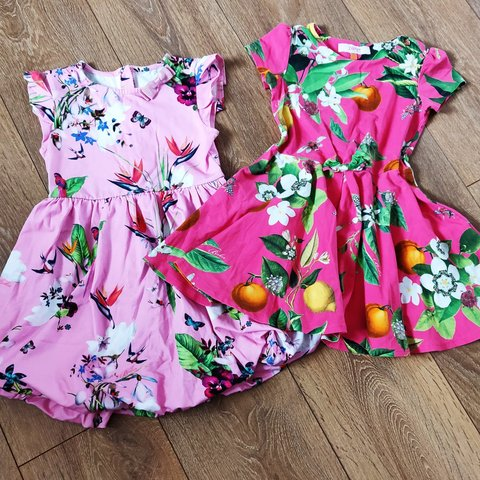 053b00c31 Ted baker girls dresses Fusia pink floral and insect dress - Depop