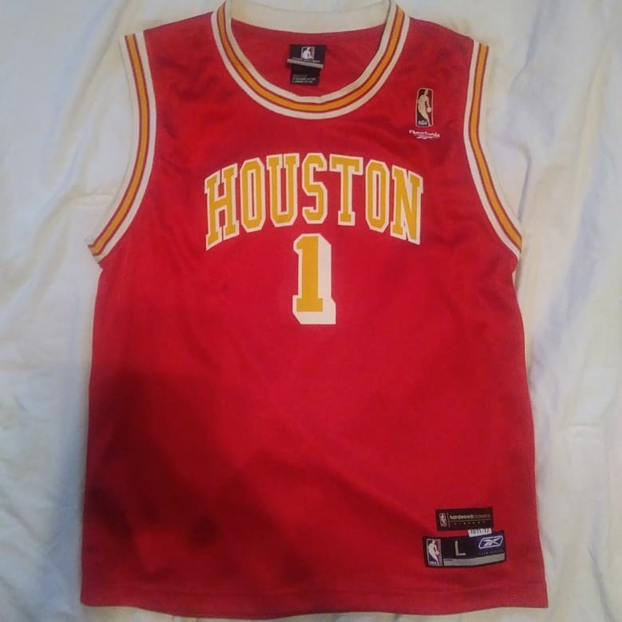 1a09a0ba051 Tracy Mcgrady Houston Rockets Jersey 🏀🔥 Size  Youth  tmac - Depop