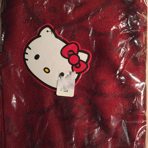 ec9950eb9 HELLO KITTY RED SCARF - New & Unopened! Remains sealed! - in - Depop