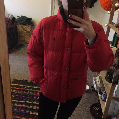 227732c66 @natal1712. 2 years ago. Manchester, United Kingdom. Ralph Lauren puffer in red  jacket boys size ...