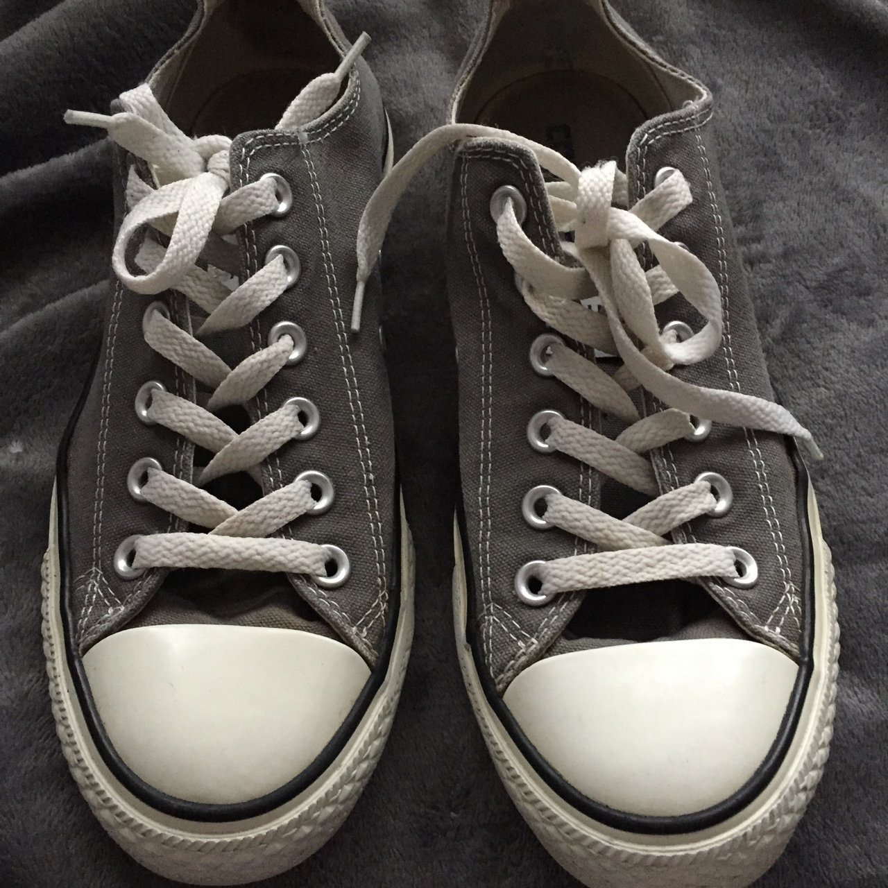 91be883db362 NEW LOW PRICE Grey all star converse!! Worn a handful of as - Depop